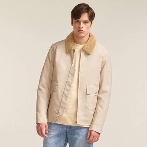 A-2 LEATHER JACKET IVORY